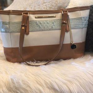 Authentic Brahmin purse two toned